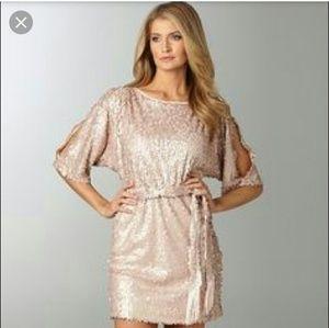 Jessica Simpson Pale Pink Sequin Prom Dress